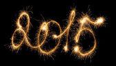 Frohes neues Jahr - 2015 mit Wunderkerzen — Stockfoto
