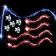 Flag of USA made of sparkles on black — Stock Photo #59892981