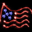 Flag of USA made of sparkles on black — Stock Photo #60275099