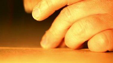 Carpentry - hammer a nail — Stockvideo