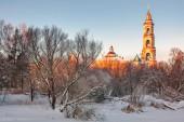 Güzel kış günbatımı — Stok fotoğraf