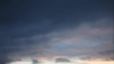 Moving gloomy sky — Stock Video