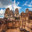 Ancient buddhist khmer temple in Angkor Wat complex — Stock Photo #61004281