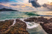Gloomy tropical sunset — Stock Photo