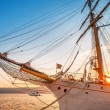Old sailing ship in sunset light — Stock Photo #61932867