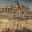 Ancient buddhist khmer temple in Angkor Wat complex — Stock Photo #65201303