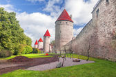 Medieval towers in Tallinn — Stock Photo