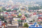 Rooftops of town in Thailand — Stock Photo
