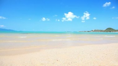 Waves Landing On Sandy Beach — Stock Video