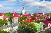 Summer aerial panorama of Tallinn — Stock Photo