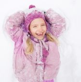 Child in winter — Stock Photo