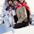 Family in the winter — Stock Photo #54295877