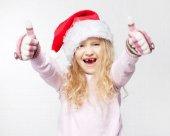 Barn i jul hatt — Stockfoto