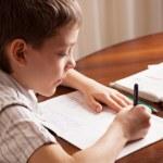 Boy doing homework — Stock Photo #58561399