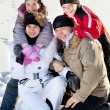 Family in the winter — Stock Photo #59595325
