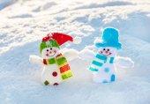 雪雪だるま — ストック写真