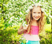 Child at spring — Stock Photo