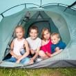 Children in a tent — Stock Photo #64305509