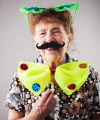 Fun old woman — Stock Photo