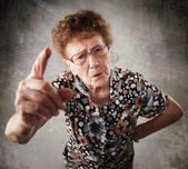 Scolded the old woman — Stock Photo