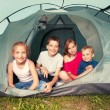 Children in a tent — Stock Photo #69588135
