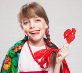 Russian girl in national dress — Stock Photo