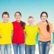 Group children at sea — Stock Photo #76737827