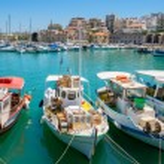 Heraklion harbour. Crete, Greece — Stock Photo #57886761