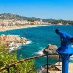 Tourist telescope. Lloret de Mar. Spain — Stock Photo #61615379