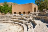 Ruins of Odeon. Gortyn, Crete, Greece  — Stock Photo
