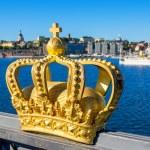 Golden crown. Stockholm, Sweden — Stock Photo #66753843