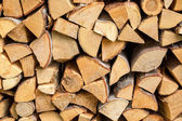 Fire wood stack — Stock Photo