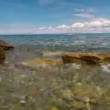 Sea bay with clean water in sunny day, nice place for swimming. Time lapse. — Stock Video #51868629