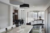 Modern luxury interior in daylight — Stock Photo