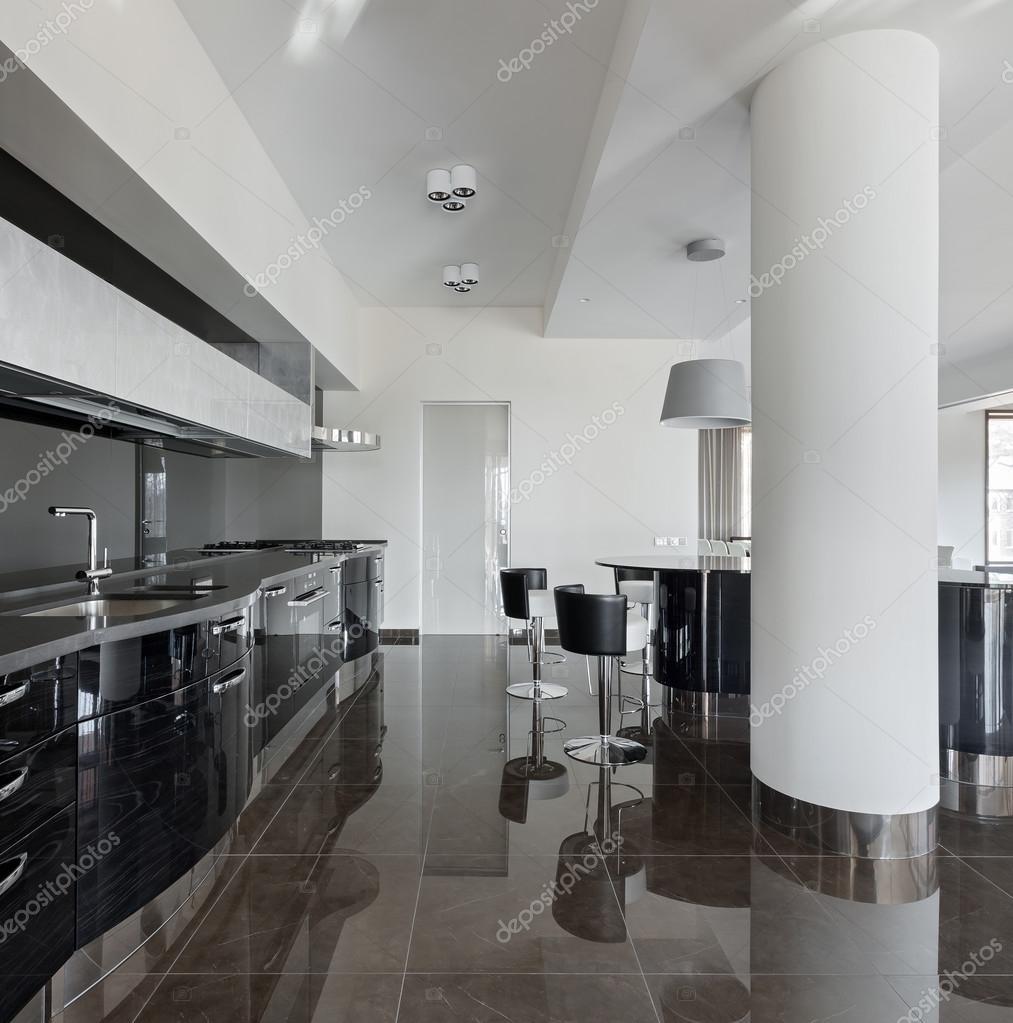 Moderne keuken interieur — Stockfoto © YegorP #91991670