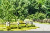 Wooden fence — Foto de Stock