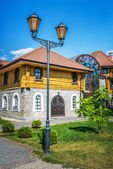 Historic building and lantern — Stock Photo