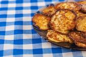 Plate with vegetable fritters — Stock Photo