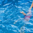 Little girl ion synchronized swimming — Stock Photo #53524585