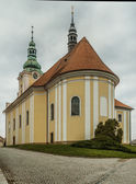 Church of St. Vaclav Baroque in Tovacov — Stockfoto
