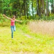 Girl in rye field — Stock Photo #58653881