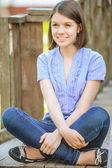 Portrait of beautiful brunette woman — Stock Photo