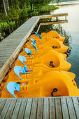Pedalo or paddle boat — Stock Photo