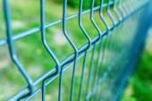 Metal fence wire — Stock Photo
