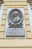 Memorial plaque Kutuzov in Brno — Stock Photo