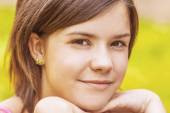 Portrait of charming young female — Stock Photo