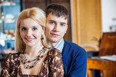 Beautiful beloved couple — Stock Photo