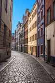 Narrow streets of Old Town Wroclaw — Stock Photo