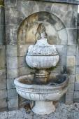 Old fountain in Ksiaz is castle in Poland — Stock Photo