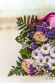 Bouquet of different flowers — Stock Photo